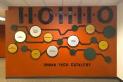 Technology Binary Code Wall